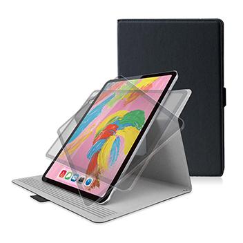 [엘레컴]iPad Pro 11인치 플립커버 소프트레더 360도 회전 슬립 대응TB-A18MWVSMBK